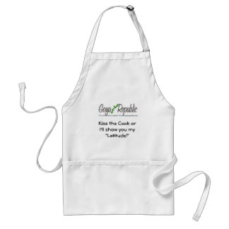 Goya Republic Kiss the Cook BBQ A Adult Apron