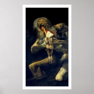 Goya: Saturn que devora a su hijo Póster