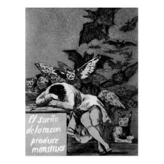 Goya Sleep of Reason Produces Monsters Postcard