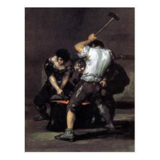 Goya, The Forge c. 1819 Oil on canvas, 191 x 121 c Postcard