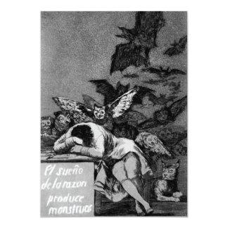 Goya The Sleep of Reason Produces Monsters Card