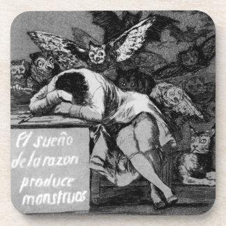Goya The Sleep of Reason Produces Monsters Beverage Coaster