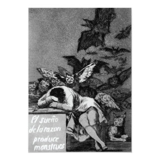Goya The Sleep of Reason Produces Monsters 5x7 Paper Invitation Card