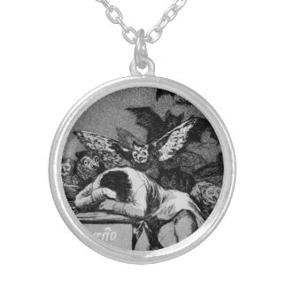 Goya The Sleep of Reason Produces Monsters Round Pendant Necklace
