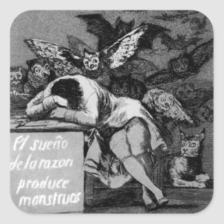 Goya The Sleep of Reason Produces Monsters Square Sticker