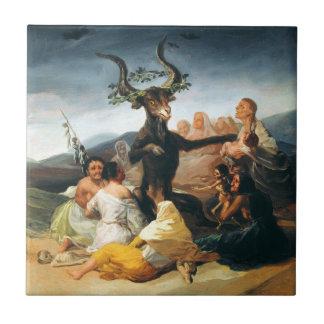 Goya Witches Sabbath Tile