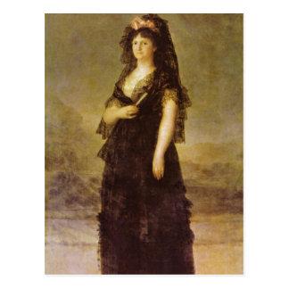 Goya y Lucientes, Francisco de Portrait of the Que Post Card