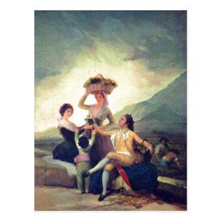Goya y Lucientes, Francisco de Weinlese The Vintag Postcard