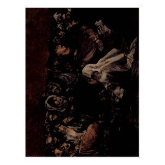 ¿Goya y Lucientes, negras de Francisco de pinturas Tarjetas Postales