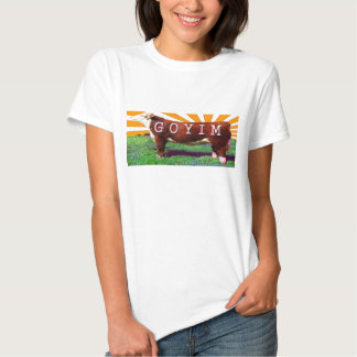 Goyim o camiseta del ganado poleras
