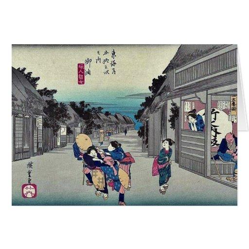 Goyu por Ando, Hiroshige Ukiyoe Tarjeta De Felicitación