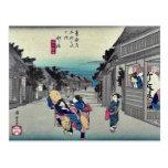 Goyu por Ando, Hiroshige Ukiyoe Tarjeta Postal