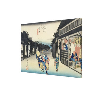 Goyu: Waitresses Soliciting Travellers Canvas Print