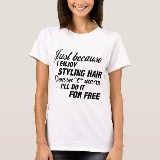 Gozo el diseñar del pelo playera