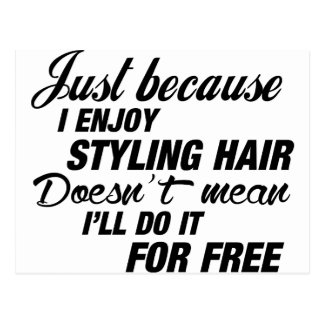 Gozo el diseñar del pelo tarjeta postal