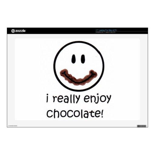Gozo realmente del chocolate skins para portátil