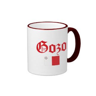 Gozo with Malta Flag Ringer Coffee Mug