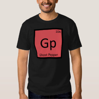 Gp - Ghost Pepper Chemistry Periodic Table Symbol Tee Shirt