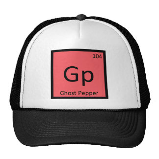 Gp - Ghost Pepper Chemistry Periodic Table Symbol Trucker Hat