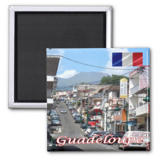 GP - Guadeloupe - Basse Terre 2 Inch Square Magnet