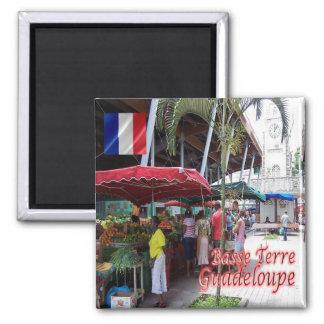 GP - Guadeloupe - Basse Terre - Spice Market 2 Inch Square Magnet
