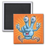 Gpeace & Glove 2 Inch Square Magnet