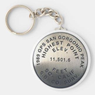 gps benchmark san gorgonio keychain