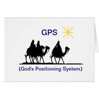 GPS  Christmas Greeting Card