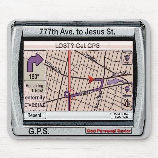 GPS God Personal Savior Mouse Pad