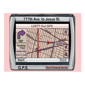 GPS God Personal Savior Postcard