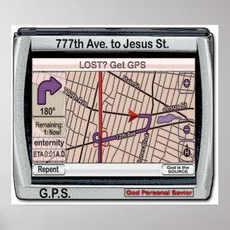 GPS God Personal Savior Poster