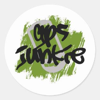 GPS Junkie Classic Round Sticker