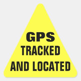 GPS siguió y localizó Pegatina Triangular