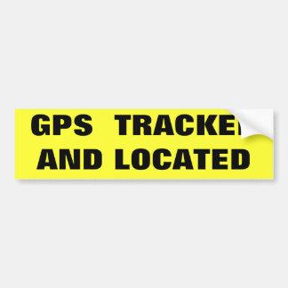 GPS SIGUIÓ Y… PEGATINA DE PARACHOQUE