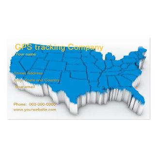 GPS tracking company business card