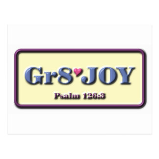 Gr8 Joy Postcard
