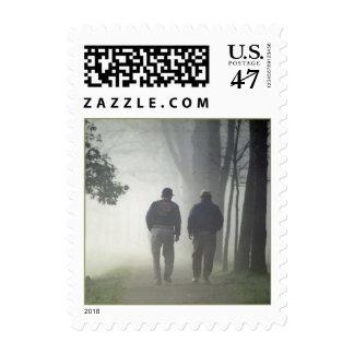 GR8 Misty Morning Walk ~ Dear Friend POSTAGE STAMP