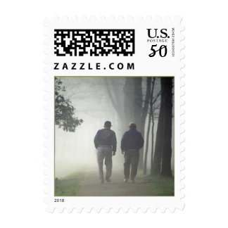 GR8 Misty Morning Walk ~ Dear Friend POSTAGE STAMP