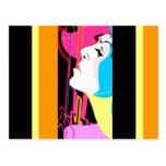 GR8 Pop Art Abstract Member of the Band Postcard