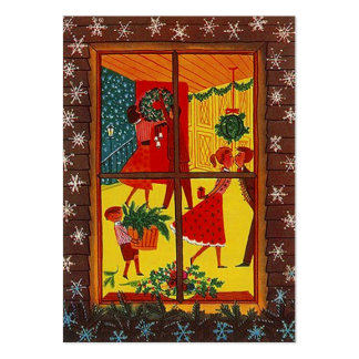 GR8 Retro Holiday Christmas Decor Gift Tag Card Business Card