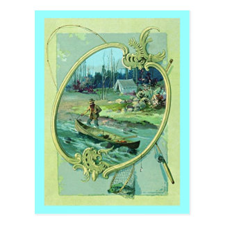 GR8 VINTAGE CAMPING & FISHING PC ~ POSTCARD