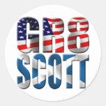 gr8scott classic round sticker