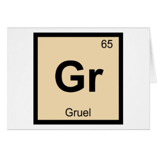 Gr - Gruel Chemistry Periodic Table Symbol Card