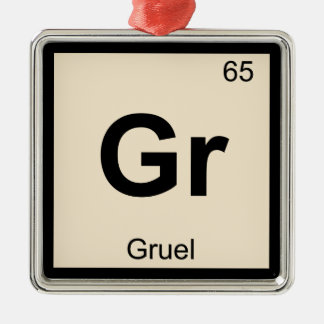 Gr - Gruel Chemistry Periodic Table Symbol Ornaments