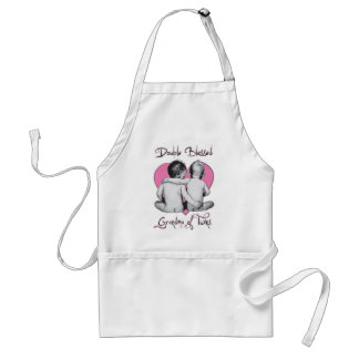GRA DMA OF TWINS       DOUBLE BLESSED ADULT APRON