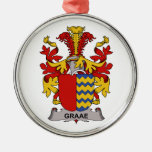 Graae Family Crest Christmas Ornaments