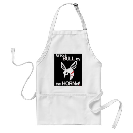 Grab a bull by the HORNet black Adult Apron