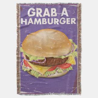 Grab a Hamburger Vintage Food Poster. Throw
