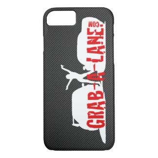 GRAB-A-LANE ORIGINAL LOGO iPhone 7 Case - White/CF