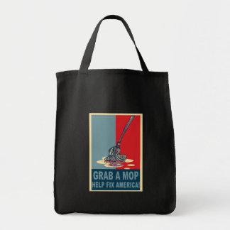 Grab a Mop and Help Clean Up America Pop Art Tee Bag